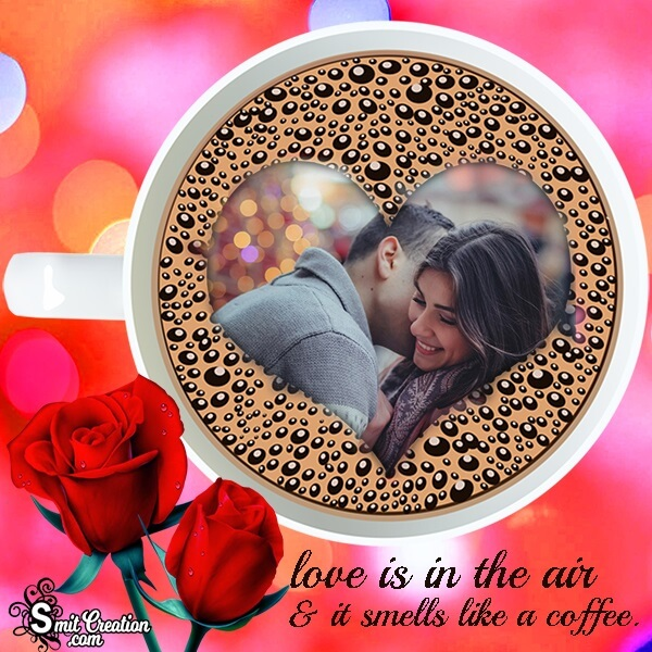 Coffee Cup Love Photo Frame