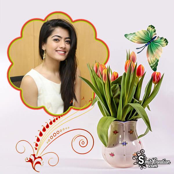 Flower Pot Photo Frame