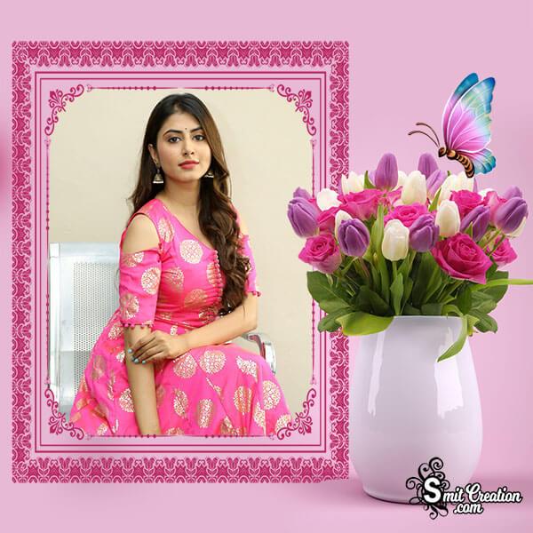 Flower Pot Pink Frame
