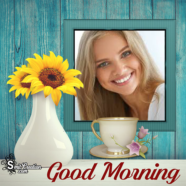 Good Morning Flower Pot Frame