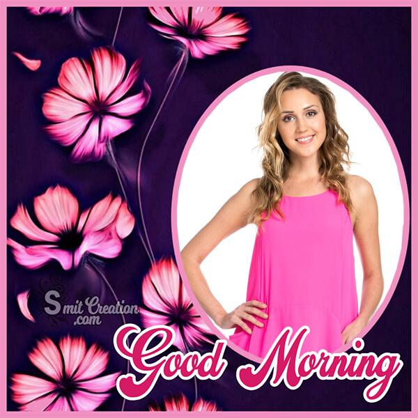 Good Morning Flowers Frame