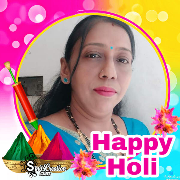 Happy Holi Photo Frame