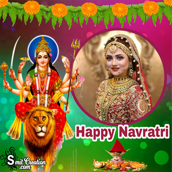 Happy Navratri Photo Frame
