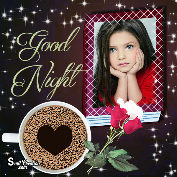 Good Night Coffee Photo Frame