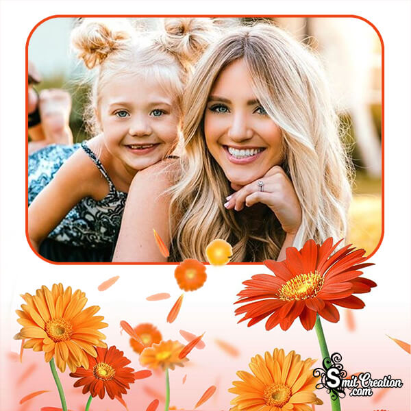 Aster Flowers Photo Frame