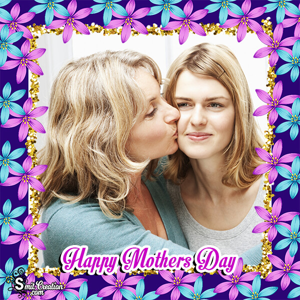 Happy Mothers Day Floral Frame