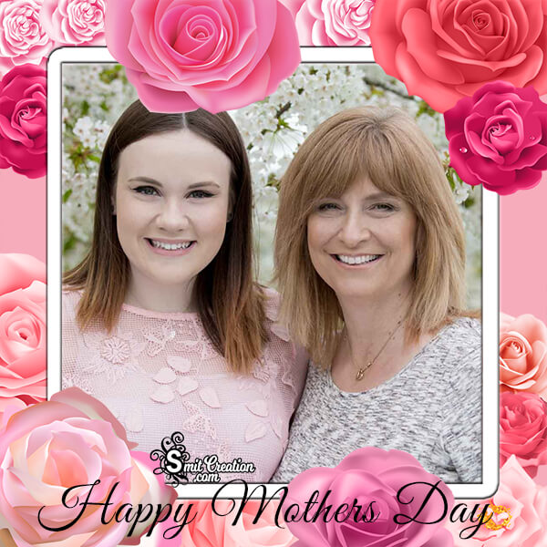 Happy Mothers Day Roses Frame
