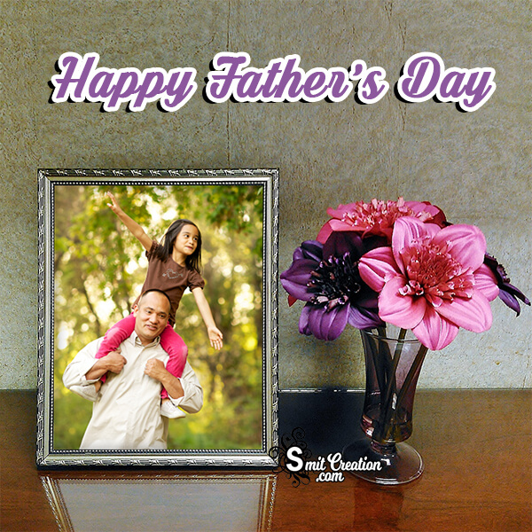 Fathers Day Flowers Pot Frame