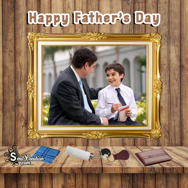 Fathers Day Gold Photo Frame