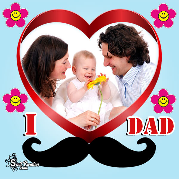 I Love Dad Photo Frame