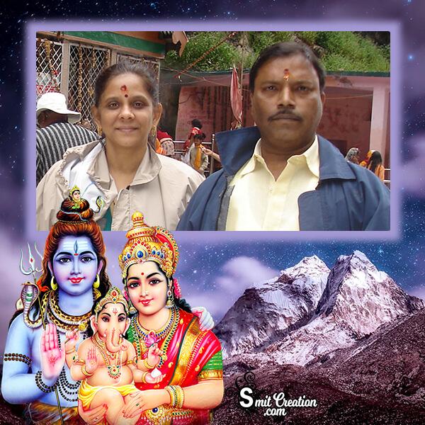 Shiv Parvati Ganesha Frame