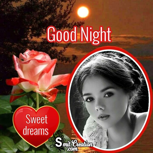 Good Night Rose Photo Frame