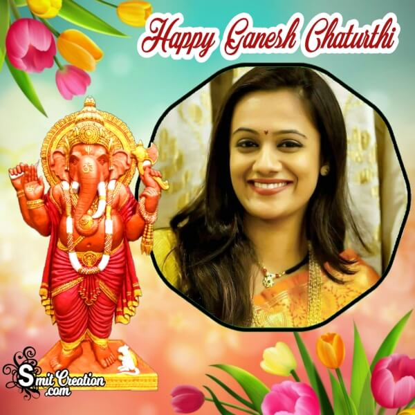 Happy Ganesh Chaturthi Photo Frame