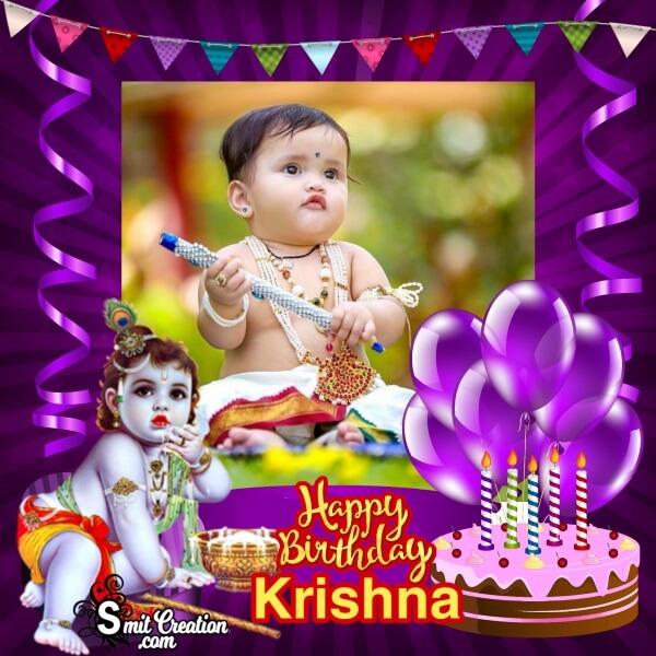 Krishna Birthday Frame
