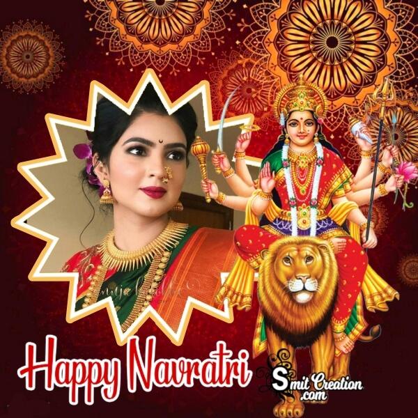 Happy Navratri Best Photo Frame