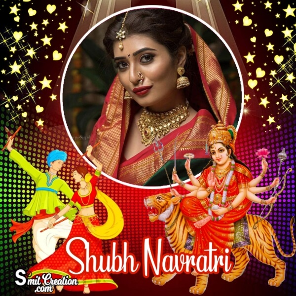 Shubh Navratri Photo Frame