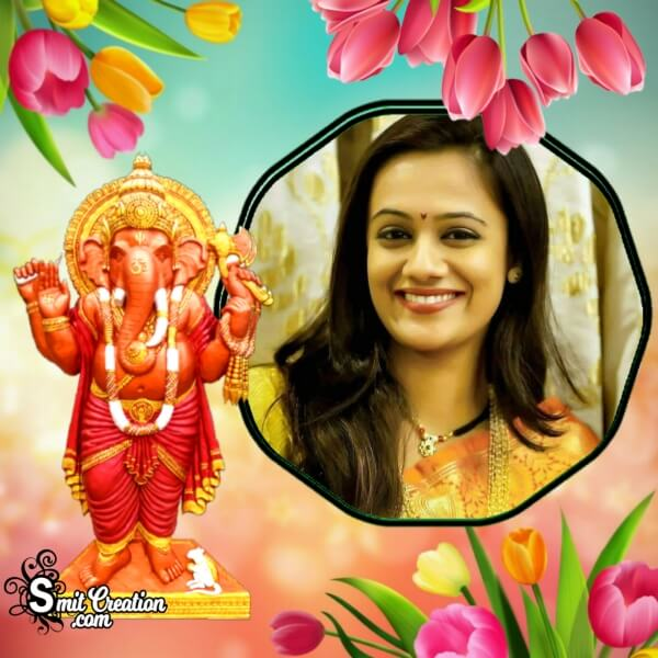 Tulips Ganesha Photo Frame