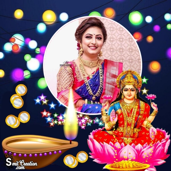 Laxmi Diya Photo Frame