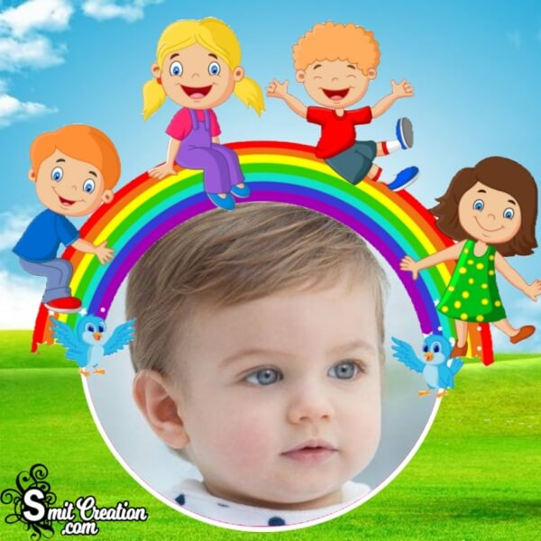 Children Rainbow Photo Frame