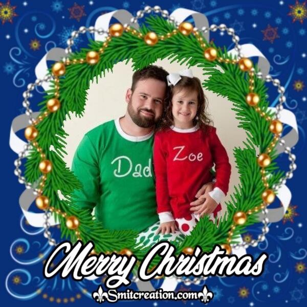 Christmas Pine Photo Frame