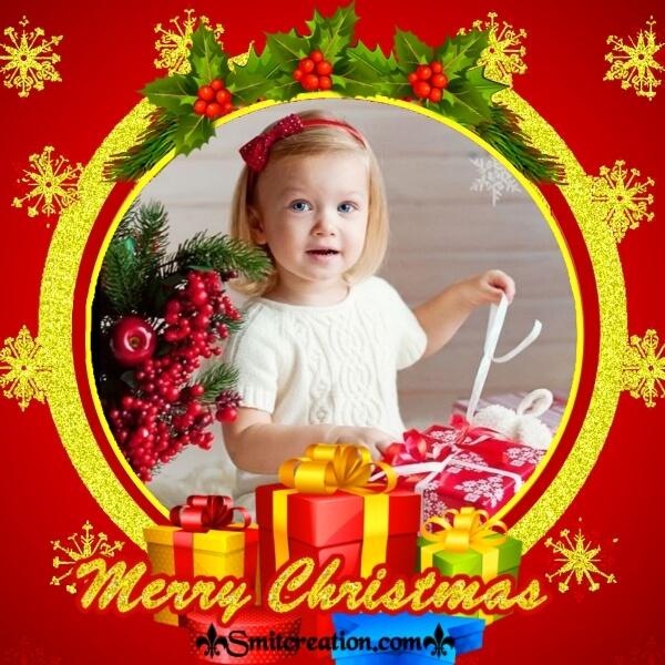 Christmas Red Photo Frame
