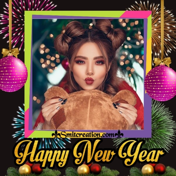 New Year Fireworks Photo Frame