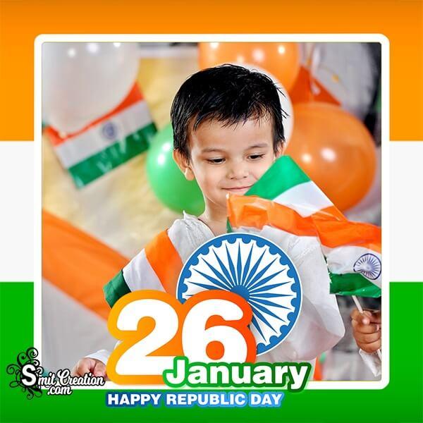 26 January Republic Day Frame