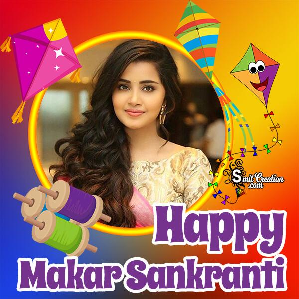 Makar Sankranti Colourful Frame