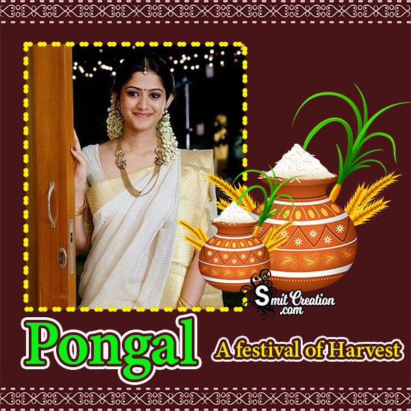 Pongal Festival Photo Frame