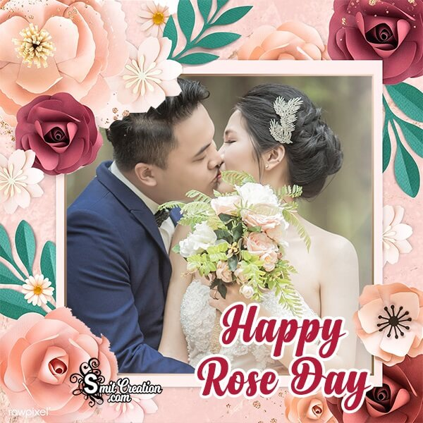 Elegant Rose Day Photo Frame