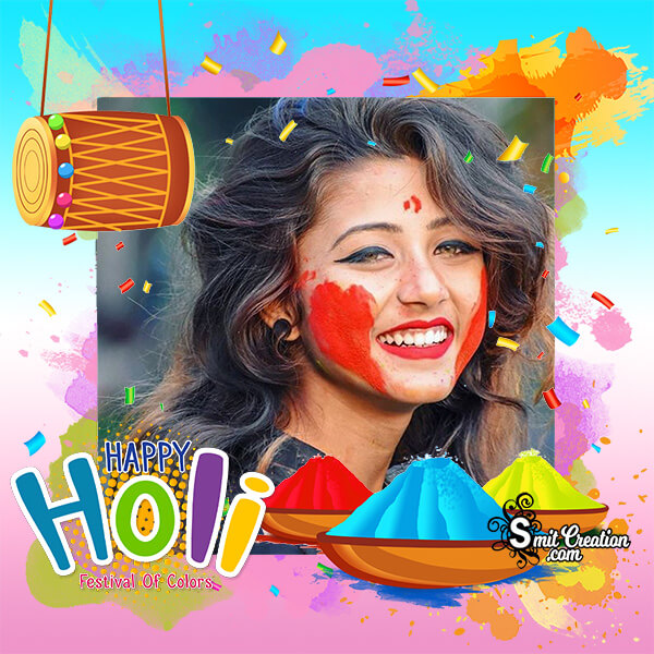 Happy Holi Festival Photo Frame
