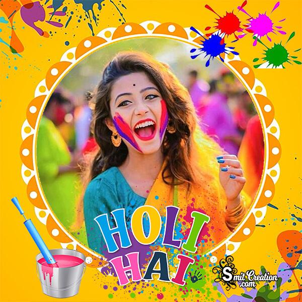Holi Hai Colourful Photo Frame