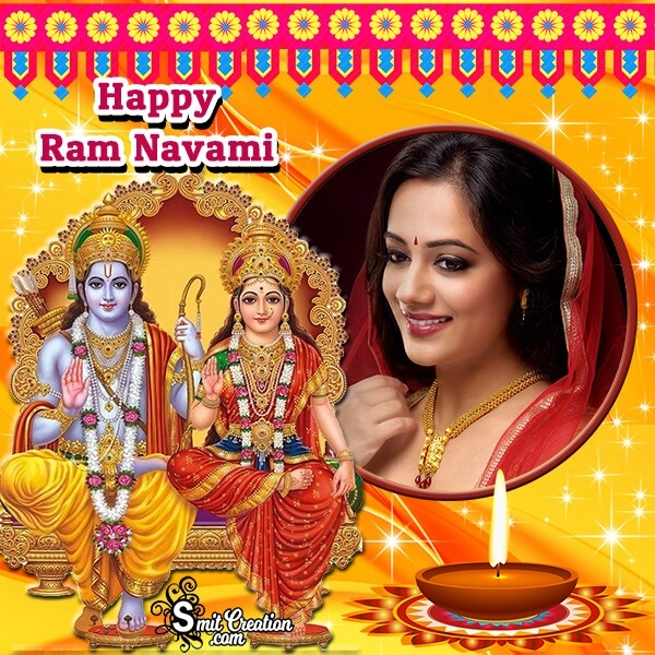 Beautiful Ram Navami Photo Frame