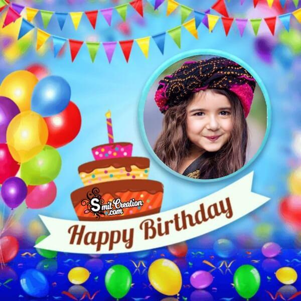 Happy Birthday Decoration Photo Frame