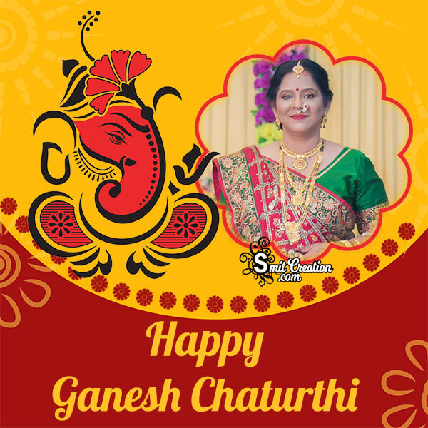 Happy Ganesh Chaturthi Creative Photo Frame
