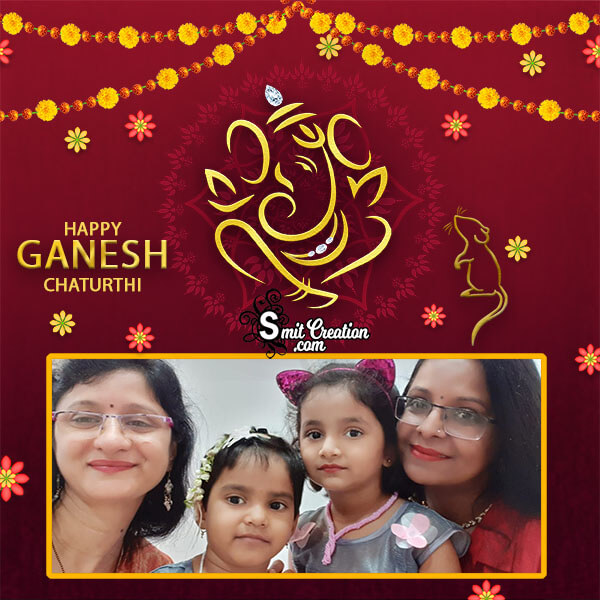 Happy Ganesh Chaturthi Decoration Photo Frame