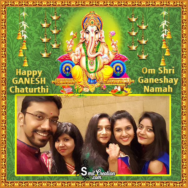 Happy Ganesh Chaturthi Family Photo Frame