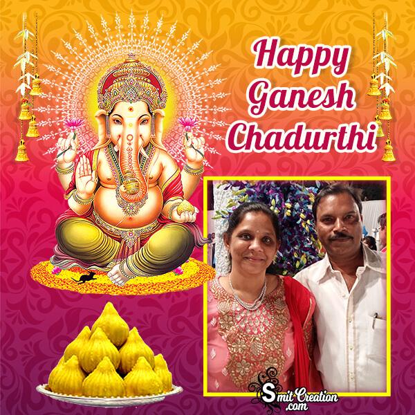 Happy Ganesh Chaturthi Modak Photo Frame