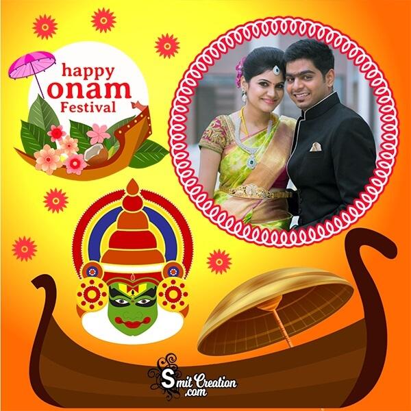 Happy Onam Cute Photo Frame