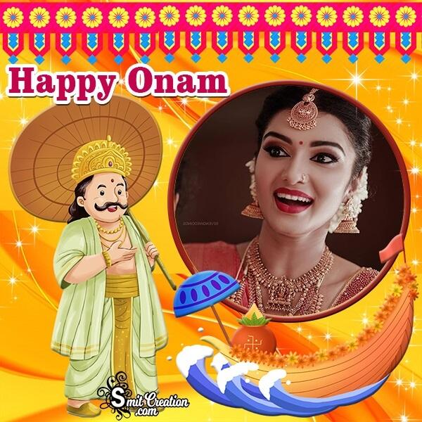Happy Onam Decoration Photo Frame