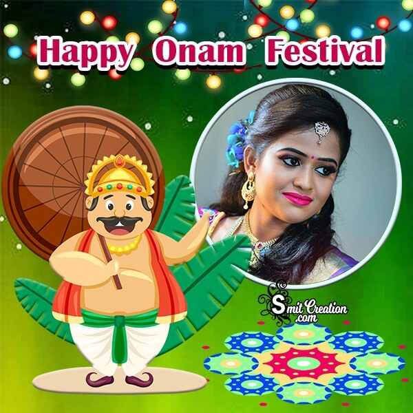 Happy Onam Festival Photo Frame