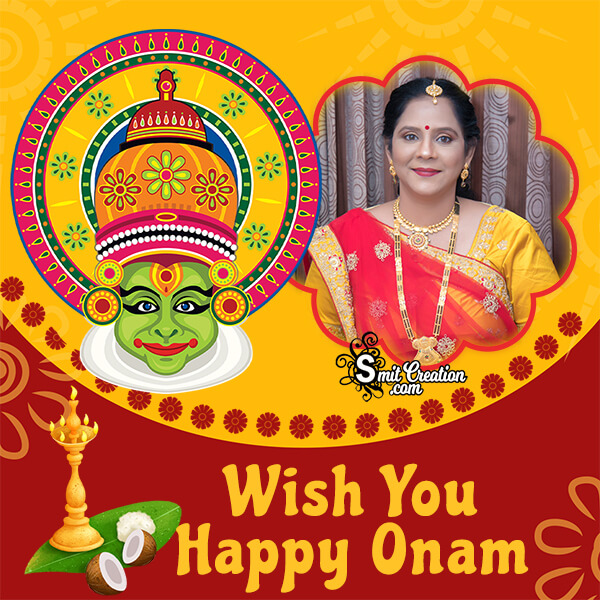 Wish You Happy Onam Photo Frame