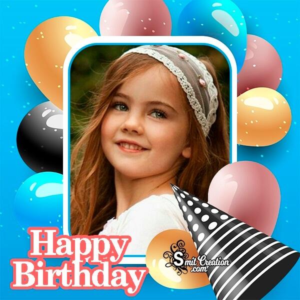Balloons Happy Birthday Photo Frame