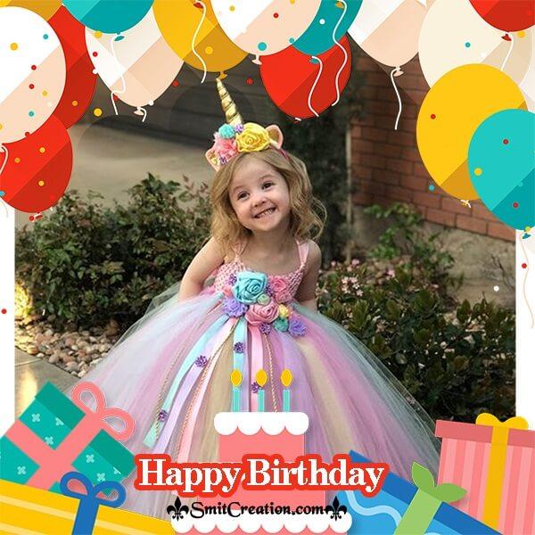 Colourful Balloons Birthday Photo Frame