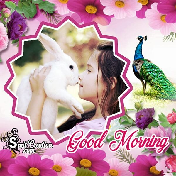 Good Morning Flowers Photo Frame