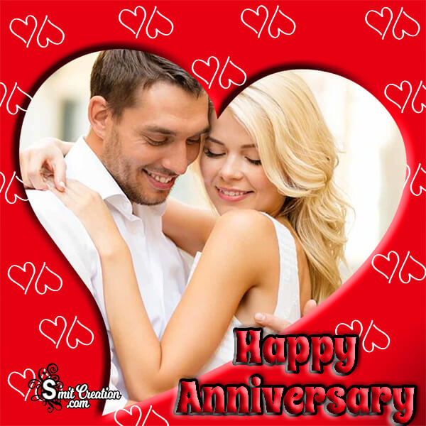 Happy Anniversary Red Photo Frame