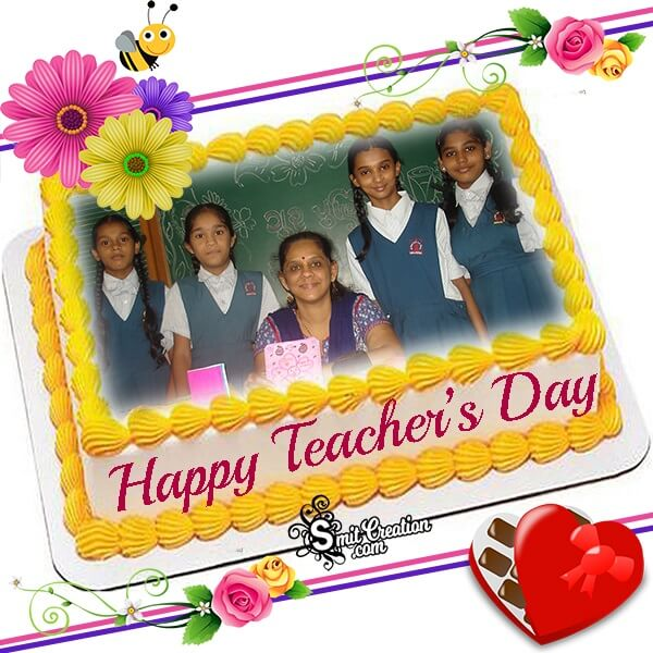 Happy Teachers Day Cake Photo Frame