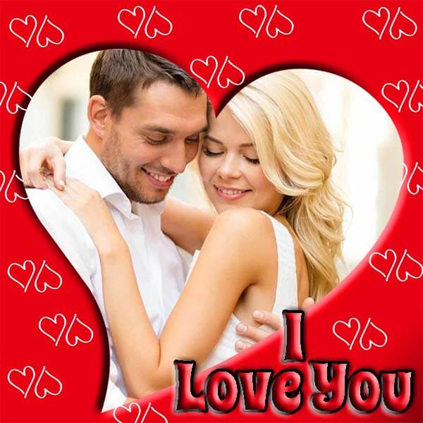 I Love You Red Photo Frame