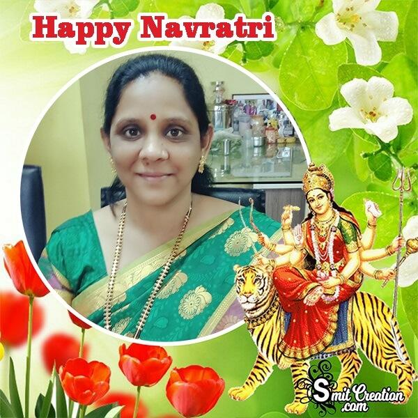 Navratri Greenary Photo Frame