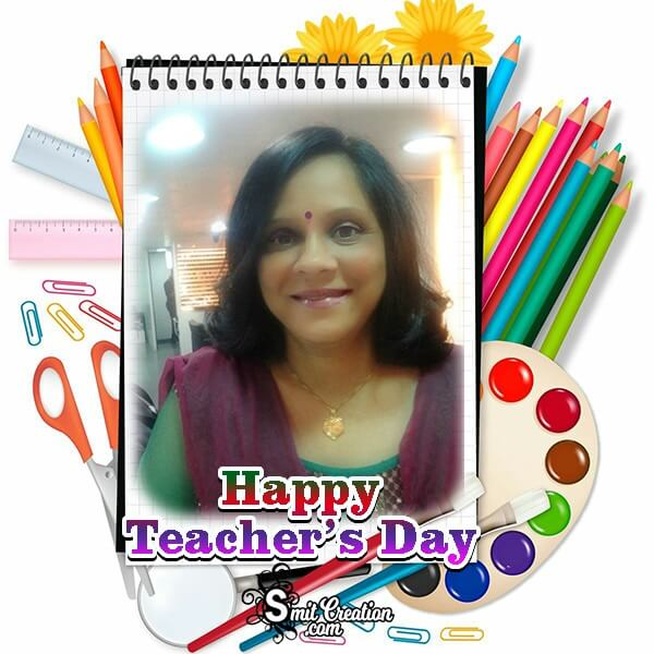 Teachers Day Drawing Photo Frame